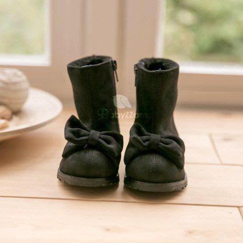 『※妳好,可愛※』韓國童鞋 babyzzam雪靴 蝴蝶結童靴 雪地靴 兒童雪靴 韓國雪靴 韓鞋 (2色)