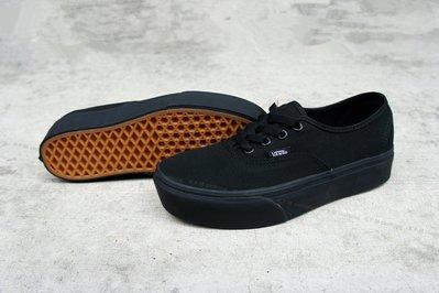【 K.F.M 】VANS Authentic Platform All Black 厚底鞋 全黑