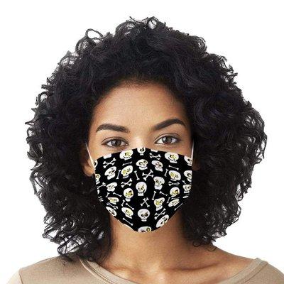 一次性口罩【10片裝】口罩萬圣節骷髏口罩成人印花一次性口罩3層民用防護