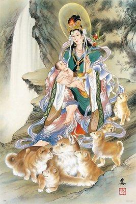 日本正版拼圖.小妻 要 親子戌與鬼子母神1000片拼圖,10-1296