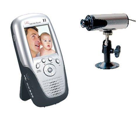 嬰兒監視器 可插卡式 帶屏無線接收器配2.4G無線攝像頭CCD高清夜視攝像機 最大支援32G卡
