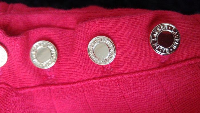 RALPH LAUREN 綠標紅色金屬銅釦棉T
