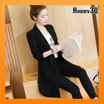 時尚小西裝外套女生上衣服上班服穿搭顯瘦黑上衣大尺碼上衣-黑S-3XL【AAA4482】
