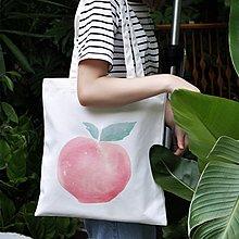 【小叮噹包包閣】 水果系列帆布袋原創可愛學生女單肩拉鏈帆布包小清新文藝布袋ins