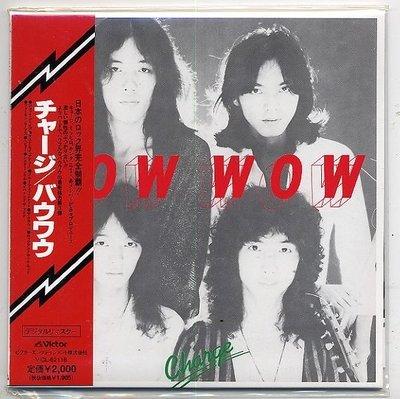 日本視覺係重金屬搖滾bow wow vow 1977 charge絕版限量LP紙盒包裝CD山本恭司loudness高崎晃anthem