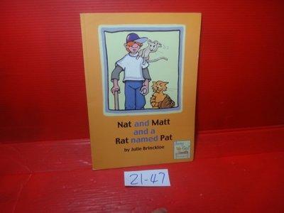 【愛悅二手書坊 21-47】Nat and Matt and a Rat Named Pat