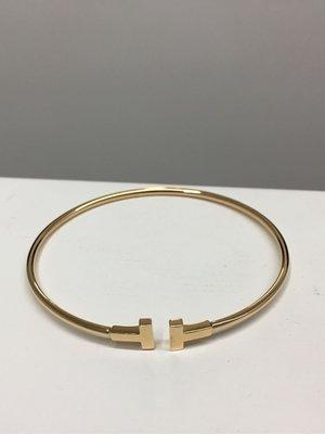 Tiffany & co T WIRE NARROW 18k玫瑰金手環
