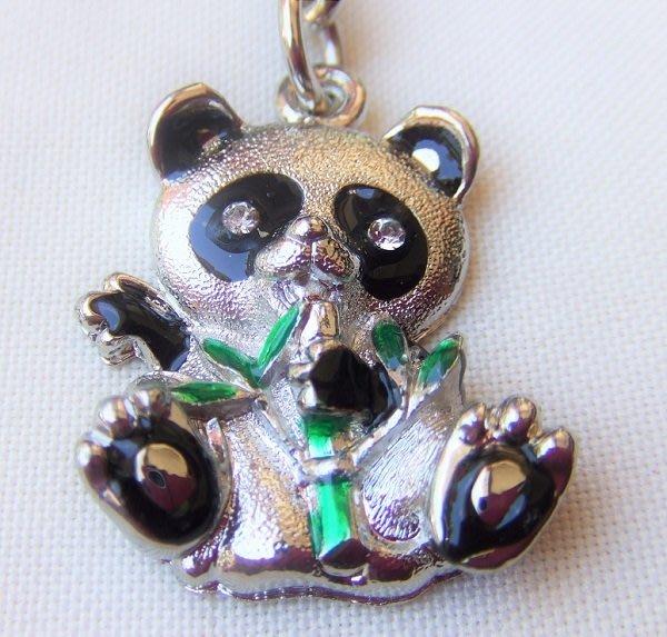 ☆創意小物店☆ 熊貓A-8 鑰匙扣/創意可愛金屬鑰匙圈 時尚造型個性飾品(扁圈或問號鉤  二選一)
