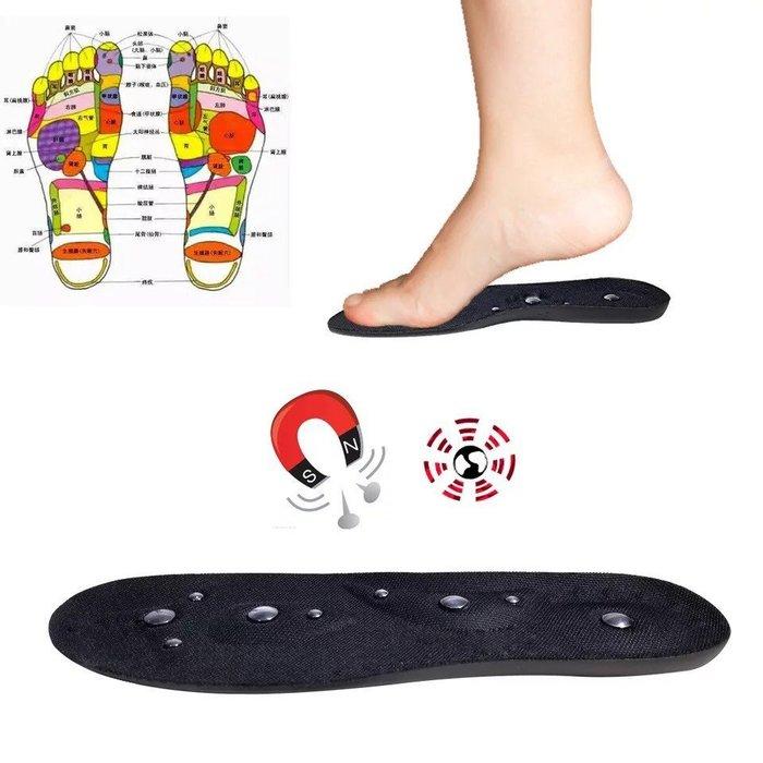 健行家Hiker-PU彈力型-磁石按摩健康鞋墊-採用18顆磁石/按摩腳底穴道/促進血液循環/增加新陳代謝