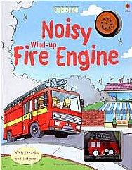 *小貝比的家*NOISY WIND-UP FIRE ENGINE 內附1台小車/精裝硬頁