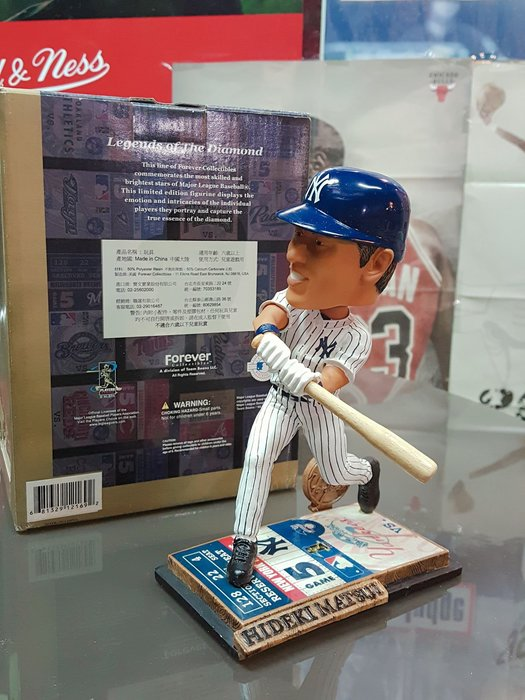 《金塊》MLB洋基隊 松井秀喜 FOREVER 限量編號 HIDEKI MATSUI 搖頭公仔 收藏