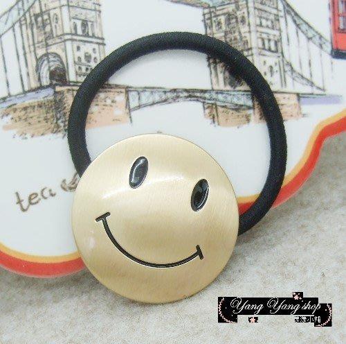 *。漾漾小舖*每天都要開開心心的金色笑臉髮束【F516】☆雜誌款