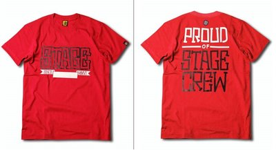 小豬 羅志祥 STAGE STG STREETCREW TEE 海報字體TEE 紅色 M號 全新真品