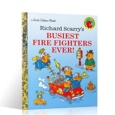 英文原版 Richard Scarry's Busiest Firefighters Ever 忙碌的消防員 斯凱瑞 精