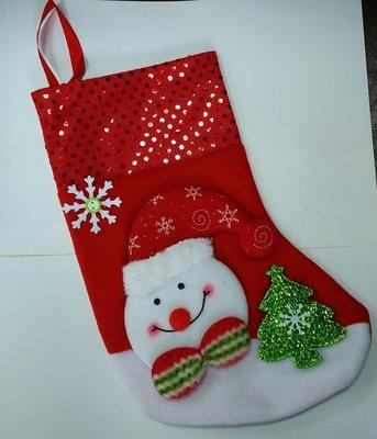 【洋洋小品可愛雪人聖誕襪】聖誕節聖誕飾品聖誕襪聖誕樹聖誕燈聖誕佈置聖誕帽聖誕老公公服裝聖誕花圈聖誕吊飾