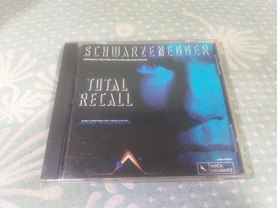 格里菲樂園 ~ CD SCHWARZENEGGER TOTAL RECALL 原聲帶 早期版 JVC