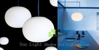 【SUN LIGHT 日光燈坊】義大利Glo Ball Basic 中號吊燈,另s1酒杯IQ設計師s2橢圓白玉海狸月亮