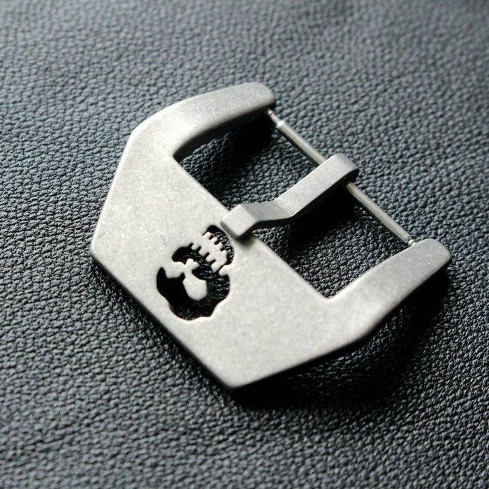 手錶配件 飾品 錶帶 錶扣 適用胖大海真皮表帶表扣  22MM 24MM 26MM復古精鋼骷髏頭表扣