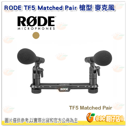 RODE TF5 Matched Pair 槍型 麥克風 電容式 收音 TF5MP 心形指向性 清晰度 錄音 公司貨