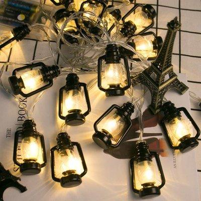油燈復古老式圣誕led彩燈懷舊房間少女心布置ins森系