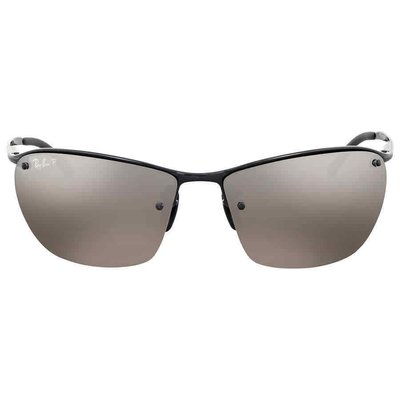 Ray Ban Polarized Silver Mirror Chromance Metal  RB3544 002/5J 64男太陽眼鏡