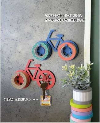 《散步生活雜貨-文具散步》日本進口 DECOLE - Anticca 腳踏車造型 紙膠帶 吸鐵掛勾-兩色選擇