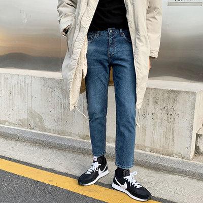 免運【Seoul Korea】正韓 韓國原裝 水洗美刷色 靛青色 牛仔褲.urb 1847 57 1