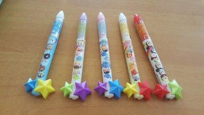 (Special Japan)極上日貨 mimi雙色筆 星星造型 Disney系列  Tsum Tsum共5款  日本製