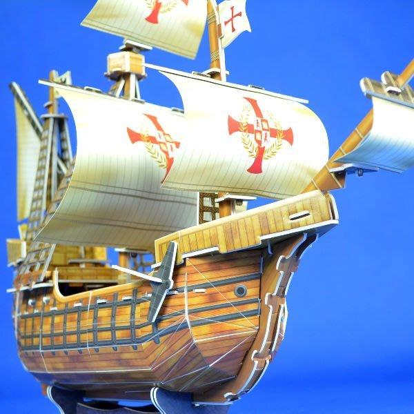 佳廷家庭 親子DIY紙模型立體勞作3D立體拼圖專賣店 船舶軍艦遊艇 聖瑪麗亞號古典帆船 樂立方T4008