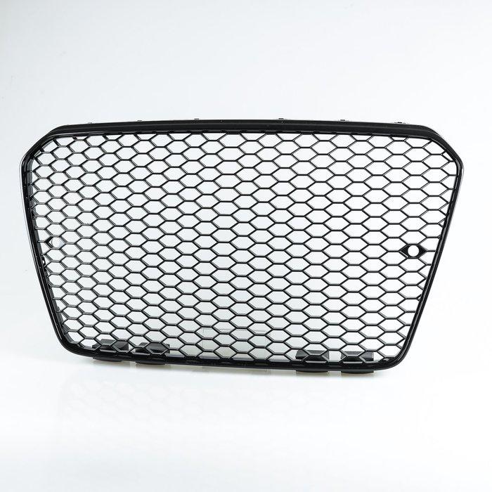 [亮光黑] RS5樣式 ABS水箱罩前格柵鼻頭 奧迪AUDI A5 S5 RS5用 2013-2016年式適用