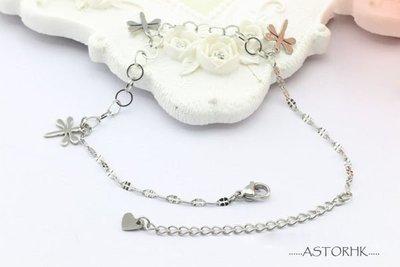 SBR15 Bracelet 手鍊 鈦鋼(西德鋼) 可愛 小蜻蜓 節日 禮物  不鏽鋼 飾品 脚鍊  鋼色