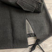 Armani Jeans 灰色厚棉柔觸感及膝裙