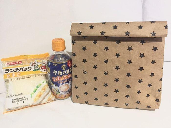 DAFA 星星日本復古牛皮紙保冰袋 保溫袋 保冷袋 早餐袋 午餐袋 野餐袋 現貨~~