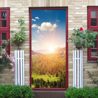 暖暖本舖 美麗日出 草田中的夕陽 創意...