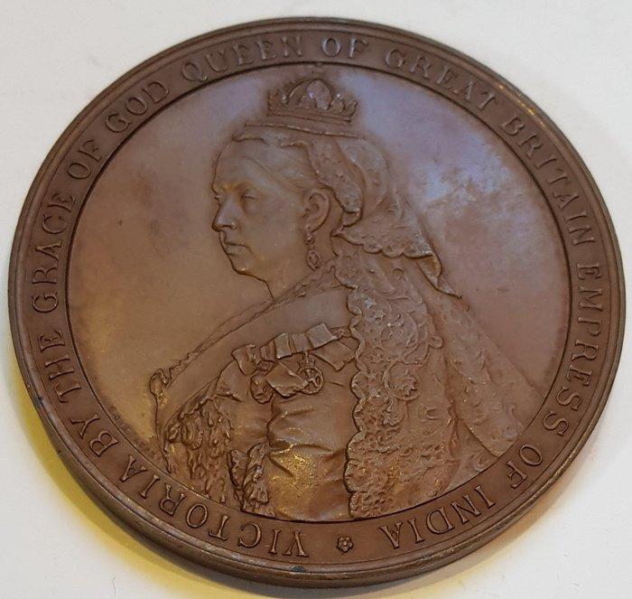 英國銅章1889 Victoria The Grace of God, Empress of India Medal.