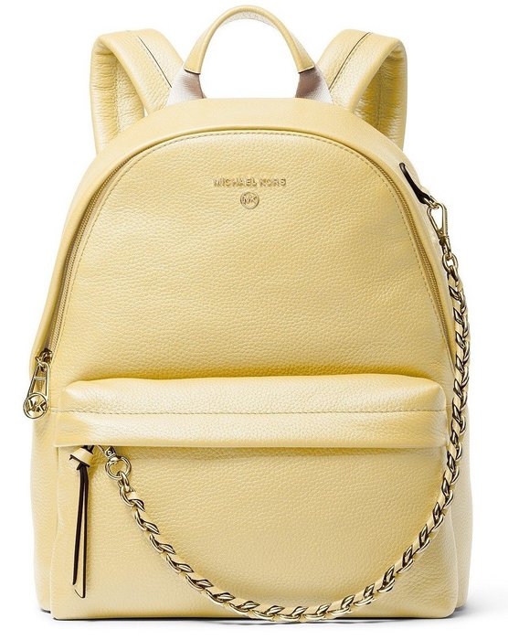 Coco 小舖 MICHAEL Michael Kor Slater Medium Backpack 鵝黃色中款後背包