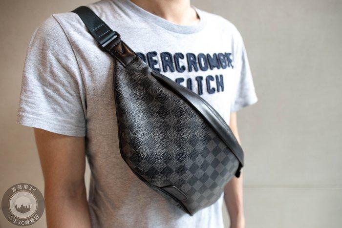 【青蘋果3C】Louis Vuitton LV N40187 黑棋盤格 腰包 二手精品#49077