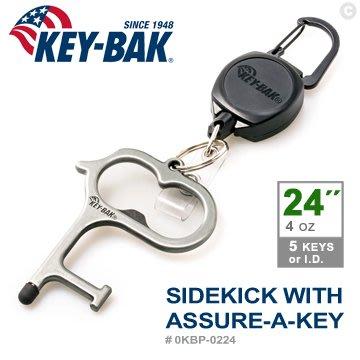 "【IUHT】KEY BAK SIDEKICK系列24""伸縮鑰匙圈+Assure-A-Key多功能指環#0KBP-0224"
