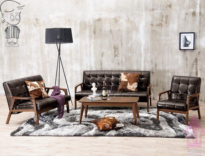 【X+Y時尚精品傢俱】現代沙發組椅系列-瓦爾德 休閒沙發(1+2+3不含茶几).橡膠木實木+乳膠透氣皮坐墊.摩登家具
