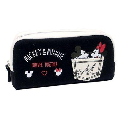 米奇米妮化妝包 收納包 筆袋 口袋款 迪士尼正版授權日本街頭商品~彤小皮的遊go世界