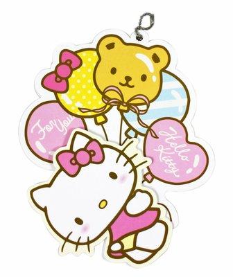 【卡漫迷】 Hello Kitty 吊飾 卡片 二張組 ㊣版 聖誕 耶誕卡 禮物 賀卡 祝福 生日卡 萬用卡 氣球 邀請