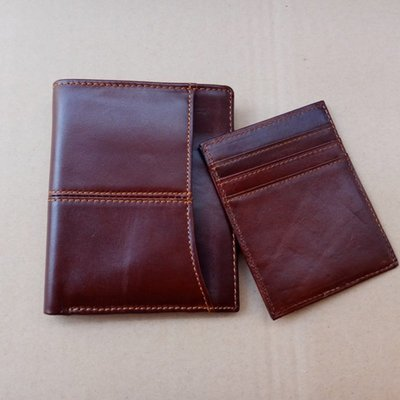 ☆Tide man☆18BAOK0416新款男士錢包短款真皮錢夾休閒女式錢皮夾頭層牛皮手工包