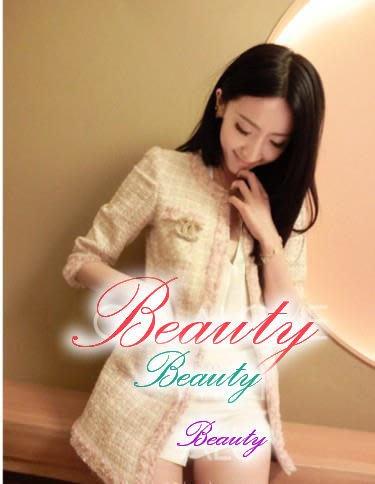 *Beauty*台灣專櫃Ure粉色蝴蝶結呢織長版外套 小香奈兒TWEED GR