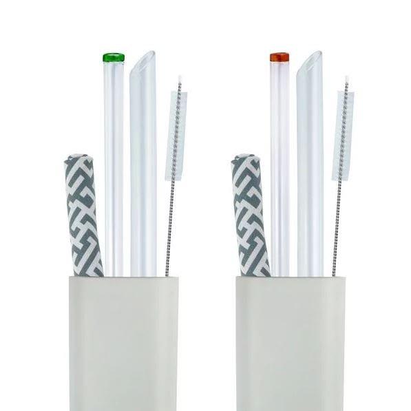 【Caldo卡朵生活】不搞混小煙囪玻璃吸管5件組(附盒)【JC科技】