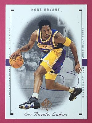 1998-99 Upper Deck SP Authentic #44 Kobe Bryant Lakers