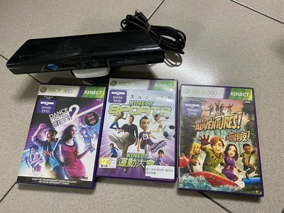 Xbox360 Kinect 攝影機、體感運動*3