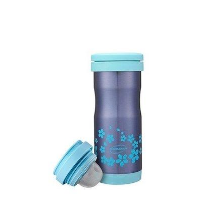 THERMO Cafe 凱菲系列 T-371-BL 粉藍櫻花篇 不鏽鋼真空保溫杯 0.37L 保冰/保溫 超取 自取 離