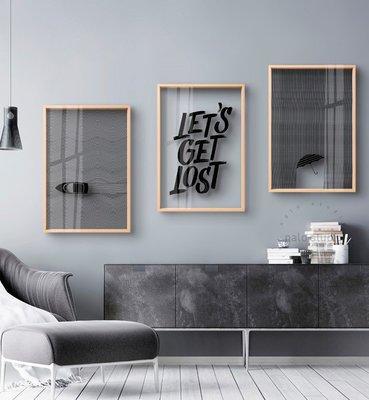 透明有機玻璃裝飾畫(包送貨)-多尺寸-創意畫相框畫掛畫客廳壁畫北歐風格