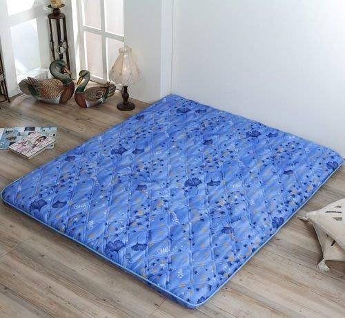 莫菲思 九州日式雙人折疊床墊(藍銀杏)