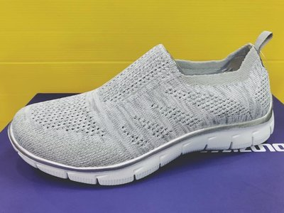SKECHERS 女 運動系列 休閒鞋 EMPIRE ROUND UP 編織鞋 透氣 12420GYSL 淺灰 現貨